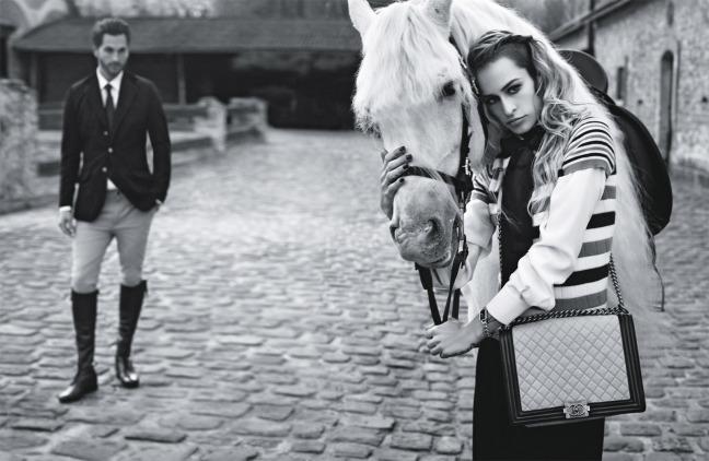 Alice Dellal por Karl Lagerfeld